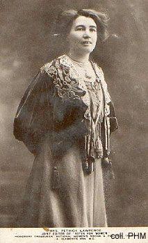 Emmeline Pethick Lawrence - 1867-1964 - Women's rights activist, suffragist : 6 fois condamnée à la prison.