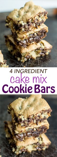 Cake Mix Cookie Bars - only 4 ingredients and everyone RAVES when they try them! Perfect bake sale dessert or for a party Cake Mix Cookie Bars - only 4 ingredients and everyone RAVES when they try them! Perfect bake sale dessert or for a party Cake Mix Desserts, Cake Mix Cookie Recipes, Cake Mix Cookies, Dessert Recipes, Cake Recipes, Oreo Desserts, Bake Sale Treats, Bake Sale Recipes, Baking Recipes