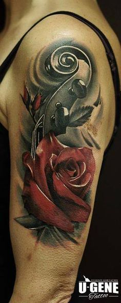 violin tattoo - Goog