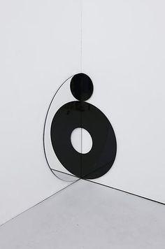 Olafur Eliasson Thereness corner 2012 stainless steel, black glass, mirror