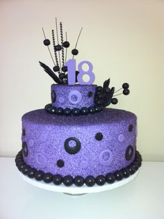 Purple cake Cupcake Cakes, Cupcakes, Purple Cakes, Halloween Cakes, All Things Purple, Themed Cakes, Party Themes, Cake Decorating, Projects To Try