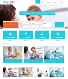 This medical Joomla template includes a flat design, 4 homepage options, a responsive layout, pricing tables, Revolution Slider, blog, about, and contact pages, cross-browser compatibility, appointment and newsletter subscription forms, a portfolio, and more.