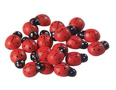 Ladybug Craft: Magnets made from scrap fabric