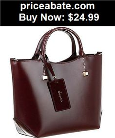 Women-Handbags-and-Purses: Women bag leather HandBag Shoulder tote hobo designer purse black brown lady - BUY IT NOW ONLY $24.99