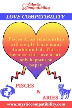 Pisces Aries relationship will simply leave many dumbfounded. This is because this love affair only happens on paper. #Pisces #Aries #relationship #Compatibility #Pisces_Aries #relationship_Compatibility #PiscesAries #relationshipCompatibility #Zodiac_Signs Aquarius Relationship, Capricorn Relationships, Relationship Compatibility, Serious Relationship, Relationship Advice, Libra And Gemini Compatibility, Leo And Aquarius, Zodiac Signs, Libra Zodiac