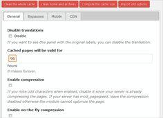 Hyper-Cache-Einstellungen in WordPress