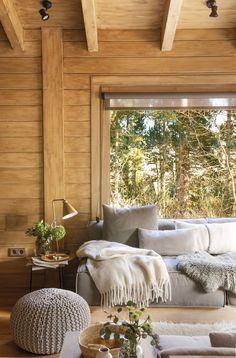 Interior Home Design Trends For 2020 - New ideas Home Deco, Cabin Design, House Design, Home Living Room, Living Room Decor, French Cottage Decor, Cabin Interiors, Log Homes, Home Fashion