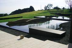 Rice, reflecting pools - mitani landscape studio / nippondaira hotel, shizuoaka