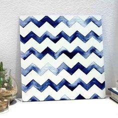 placa water chevron blue