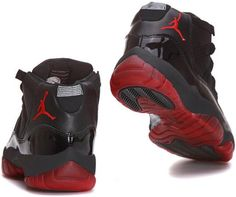 Top Nike Air Jordan 11 Mens Shoes in Black with Red Sole, cheap Jordan If you want to look Top Nike Air Jordan 11 Mens Shoes in Black with Red Sole, ...
