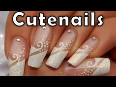 wedding Nail Art Designs 2013 | Nail Art Designs | Glamour & chic wedding French manicure by cute ...