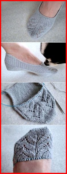 Insole Slippers/ Lace - Free Pattern Free Knitting Pattern Source by putzi_p Knitting Socks, Knitting Stitches, Knitting Patterns Free, Knit Patterns, Free Knitting, Clothing Patterns, Baby Knitting, Free Pattern, Finger Knitting