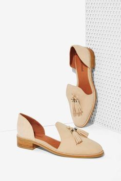 Jeffrey Campbell Open Case Suede Flat - Shoes