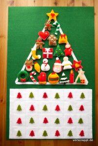 Adventskalender-Advent-Kalender-Kind-Kleinkind-Filz-Figuren-Tannenbaum-Christbaum-Weihnachtsbaum-Christbaumschmuck-15-Gesamtansicht-Filzkalender