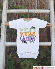 Girls Halloween Shirt - Mommy's Scream Queen - Funny Halloween Tshirt or Onepiece - Baby Girl Halloween Outfit - Kids Halloween Costume