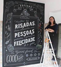 Chalkboard Wedding, Chalkboard Art, Wall Murals, Wall Art, Chalk Lettering, My Room, Coffee Shop, Entertaining, Bar