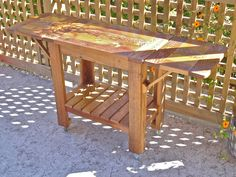 food trolley Food Trolley, Outdoor Projects, Outdoor Furniture, Outdoor Decor, Workshop, Table, Home Decor, Atelier, Decoration Home