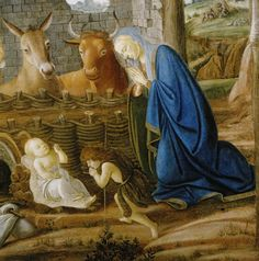 SANDRO BOTTICELLI ( 1445 - 1510) - The Nativity (detail). Columbia Museum of Art.