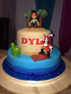 Jack and the neverland pirates cake.