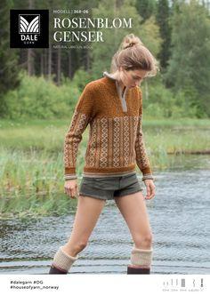 Bilderesultater for dale garn rosenblom Nordic Sweater, Men Sweater, Gamine Style, What Is Fashion, Pullover, Free Knitting, Long Sleeve Sweater, Knitwear, Knit Crochet
