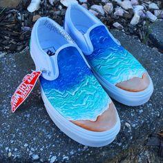 Items similar to Custom Vans Slip On Shoes- Graphic Flower Design on Etsy Custom Vans Shoes, Custom Painted Shoes, Painted Vans, Vans Sneakers, Tenis Vans, Hype Shoes, On Shoes, Vans Shoes Fashion, Clothes
