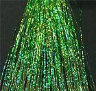 green sparkle Hair Tinsel, Sparkle, Green, Hair Decorations