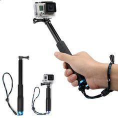 36 inch For SP POV Pole Extendable Self Selfie Stick Handheld Monopod Dive Since for Gopro Hero 4 3  3 2 sj4000 Sport Camera