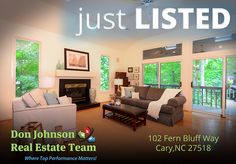 102 Fern Bluff Way Cary, NC | Contemporary Home overlooking a bluff | Don Johnson Real Estate Team
