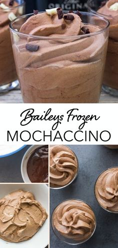 Baileys Frozen Mochaccino, the perfect frozen coffee treat that helps you cool down during the summer heat! Chocolate, Coffee, and a smooth creamy liqueur make this mocha frappe recipe perfect and delicious. It's like a grown up dalgona coffee for summer! Köstliche Desserts, Frozen Desserts, Delicious Desserts, Dessert Recipes, Mocha Frappe Recipe, Chocolate Frappe Recipe, Yummy Treats, Sweet Treats, Deserts