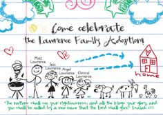 LOVE this invite, and this adoption party.