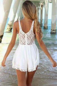 How to Chic: LACE ROMPER