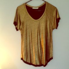 Townsen gold sparkle top XS Comfy and cute modal/spandex gold top from Townsen. Never worn! Townsen Tops