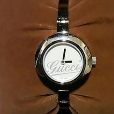aece21848f1 Gucci watch Small signs of wear nothing too bad. No battery box is a little  beat up but does the job.