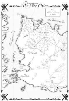 The Free Cities, western shore of Essos #songoficeandfire