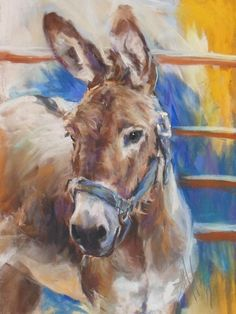 Blue collar donkey by Debbie Anderson Learn about #HorseHealth #HorseColic http://www.loveyour.horse