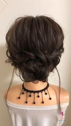 Hairdo For Long Hair, Bun Hairstyles For Long Hair, Short Hair Updo, Ladies Hairstyles, Hair Tutorials For Medium Hair, Medium Hair Styles, Short Hair Styles, Hairband Hairstyle, Lady Hair
