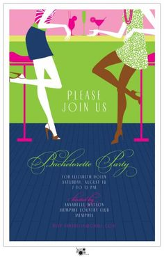 bachelorette party invites! available on maureen hall stationery and invitations online store!