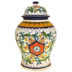 Studio Maximo Huerta Collection - Talavera Ginger Jar by Maximo Huerta - Ceramic Studio, Ceramic Art, Talavera Pottery, Ceramic Materials, Contemporary Ceramics, Pottery Studio, Ginger Jars, Style And Grace, Jaba