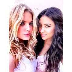 FanPix.net ❤ liked on Polyvore featuring ashley benson, shay mitchell, pretty little liars, ashley and celebrities