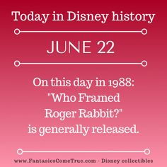 Disney Classics Collection, Disney Fun Facts, Roger Rabbit, Disney Traditions, Disney Collectibles, June 22, Disney Pins, Walt Disney World, Vintage Toys