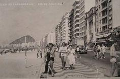Praia de Copacabana anos 40, 50
