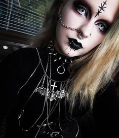 "75 Likes, 2 Comments - Minx (@misukina) on Instagram: ""The other days look . . . #kummitus #goth #gothgoth #piercing #piercings #alternative #choker…"""