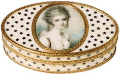 Portrait of Mrs Lowther, ca 1780 (Portrait miniature of watercolor on ivory) by Richard Cosway (b.1742 - d.1821). Collection of the V&A