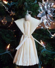 Anjos de Natal de Palha de Milho Passo a Passo | Reciclagem no Meio Ambiente