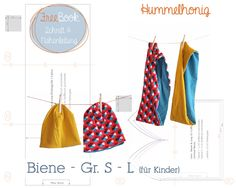 Freebook mit Schnittmuster und Anleitung für eine Beanie-Mütze und einen Loop-Schal (Modell Biene).  http://www.hummelhonig.com/hummel-content/uploads/2014/10/Hummelhonig_Freebook-Biene_Beanie+Loop.pdf