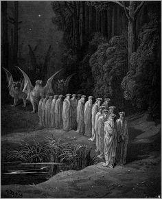 Gustave Doré, Apocalyptic Procession, ilustración para la Divina Comedia de Dante