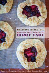 Roasted White Chocolate Berry Tart (gluten free),