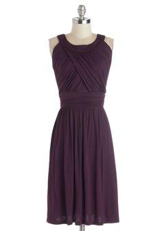 So Happy to Gather Dress in Plum | Mod Retro Vintage Dresses | ModCloth.com