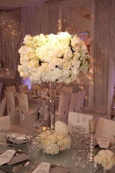 Love the ivory look but with purple lighting and purple table covers