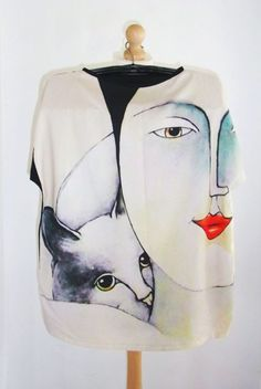 Happy- Art Top on Bamboo Happy Art, Wearable Art, Bamboo, Paintings, Printed, How To Wear, Bags, Fashion, Handbags